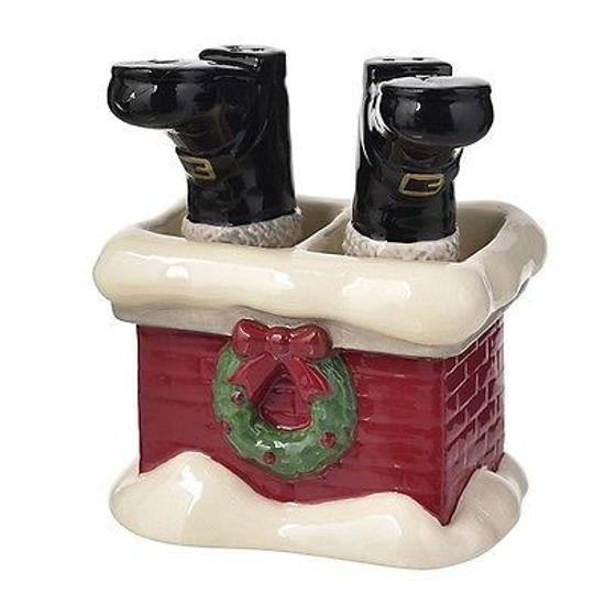 Santa Boots Salt & Pepper Shaker Set by Grasslands Road