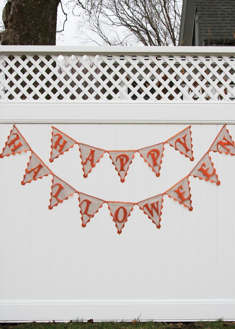 Frightful Happy Halloween Pennant Banner by Heritage Lace