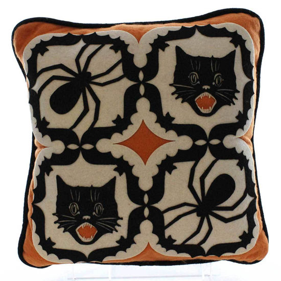 Halloween Kaleidoscope Pillow by Bethany Lowe Designs