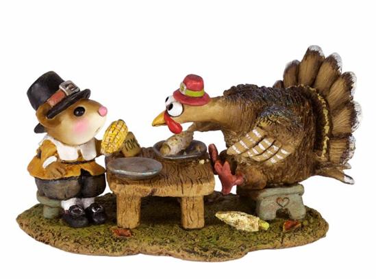 Turkey at Dinner! M-592by Wee Forest Folk