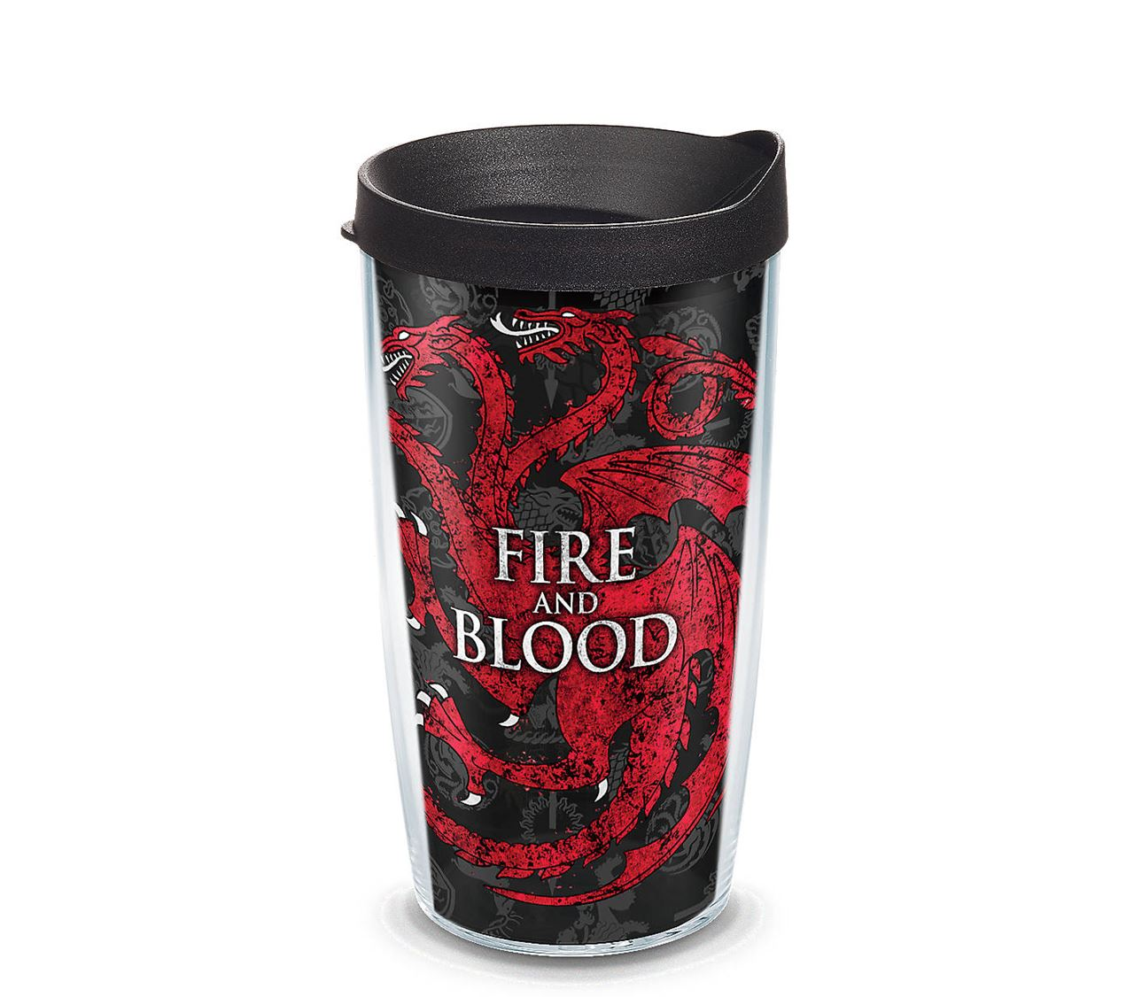 Game of Thrones 290 ml House of Targaryen Fire and Blood Glass Mug