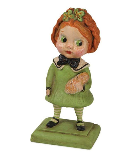 St Patty Girl with Irish Bread by Bethany Lowe Designs