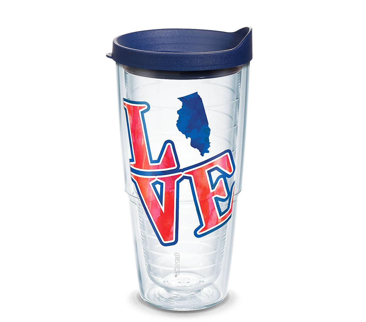 Love Illinois Wrap with Lid 24 oz. Tumbler by Tervis