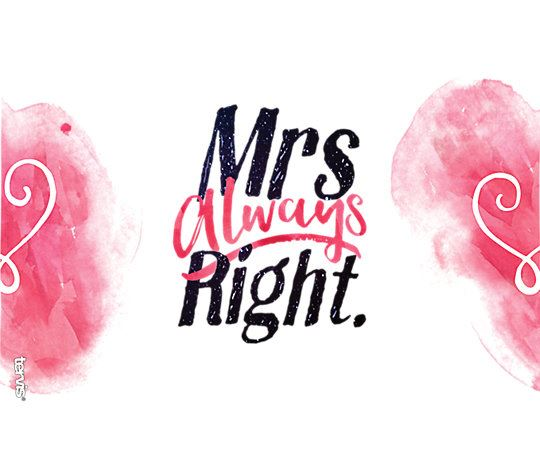 Mrs. Always Right Heart Wrap 16oz. Tumbler by Tervis