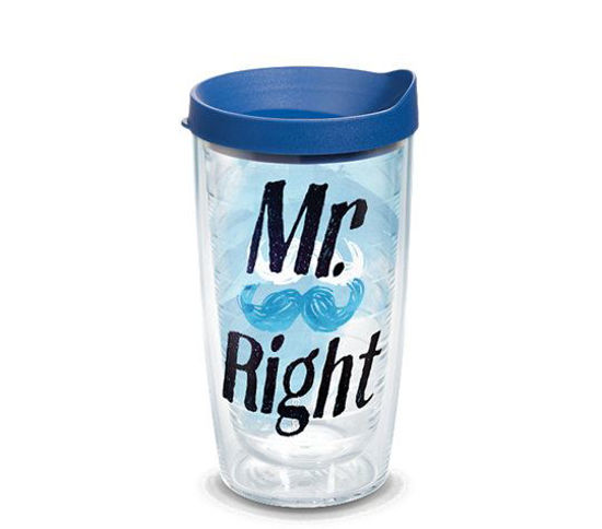 Mr. Right Mustache Wrap 16oz. Tumbler by Tervis
