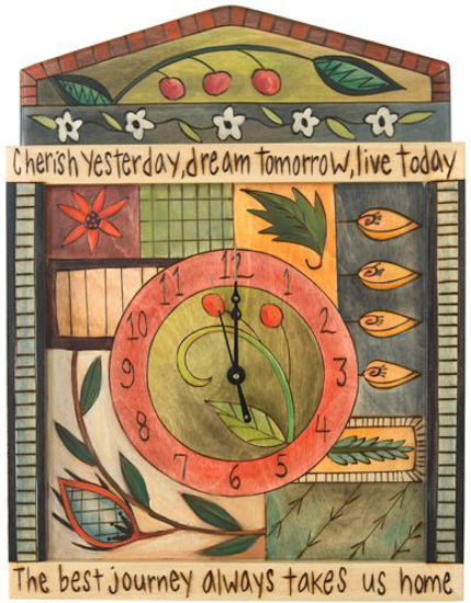 Cherish Yesterday Wall Clock by Sticks
