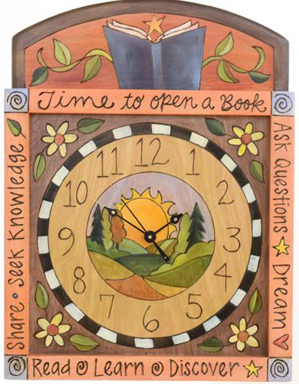 Time To Open A Book  Wall Clock by Sticks
