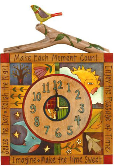 Make Each Moment Count Wall Clock by Sticks
