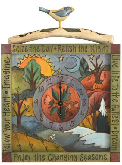 Seize the Day Wall Clock by Sticks
