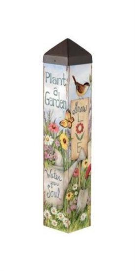 "Plant a Garden 20"" Art Pole by Studio M"