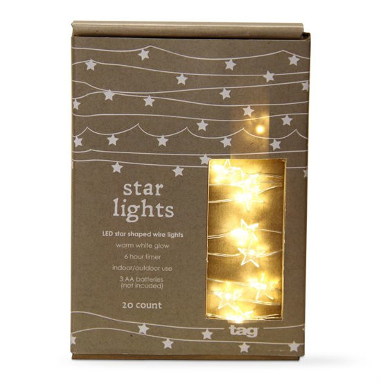 LED Star Shaped Wire Lights by TAG