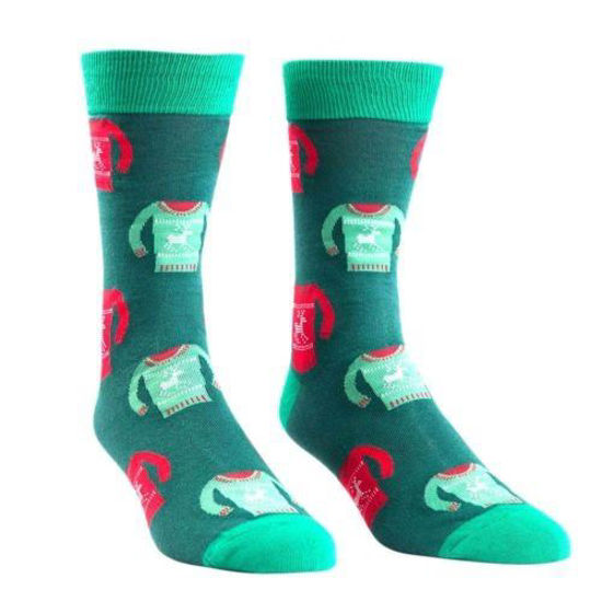Holiday Sweater Men's Crew Socks by Sock It To Me