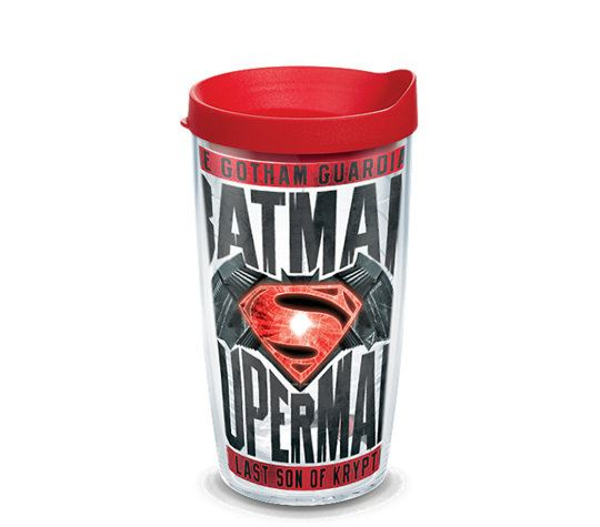 Batman VS Superman Movie with Red Lid 16oz Tumbler by Tervis