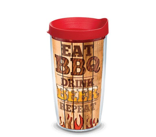 BBQ Eat Drink Repeat Wrap 16oz Tumbler by Tervis
