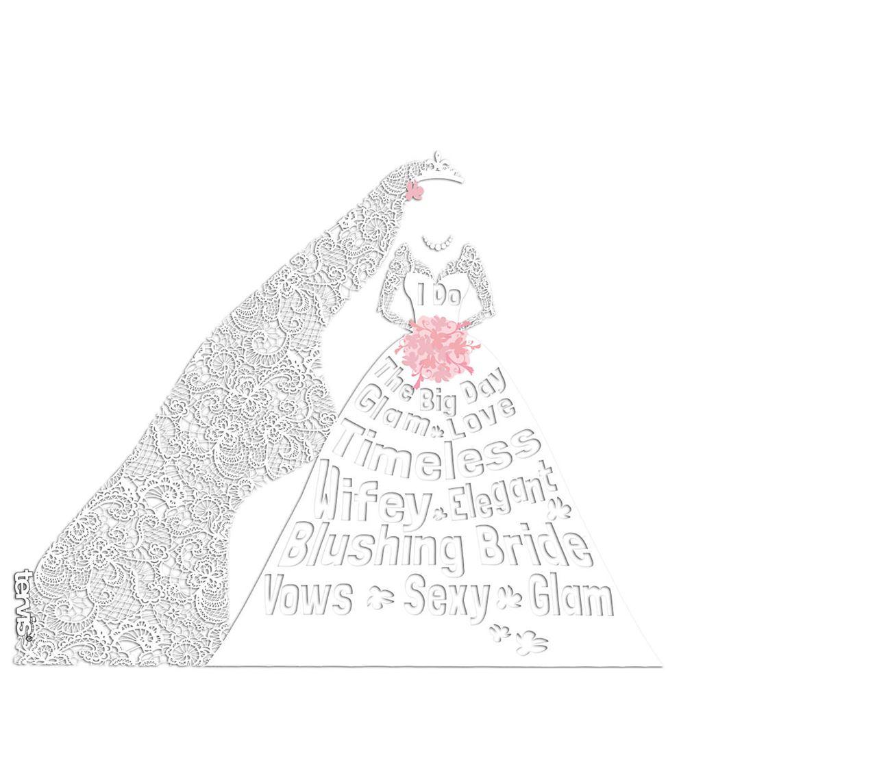 Bride Dress Wordle Wrap 16oz. by Tervis