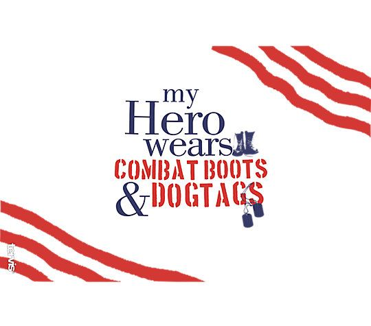 My Hero Wears Combat Boots & Dog Tags 16oz Tumbler by Tervis