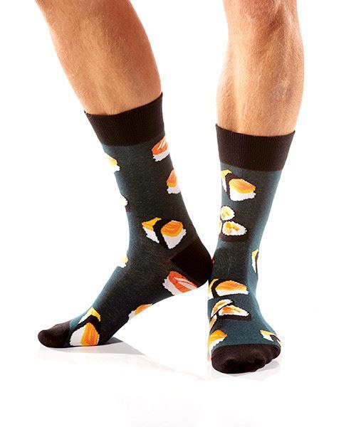 Sushi Time Men's Crew Socks by Yo Sox
