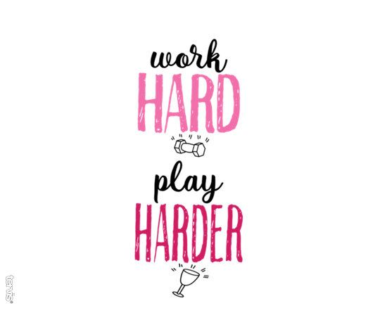 Work Hard Play Harder 16oz by Tervis