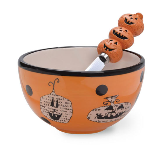 Pumpkin Toss Bowl & Spreader by Boston International