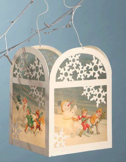 Snowman Tin Lantern by Bethany Lowe Designs