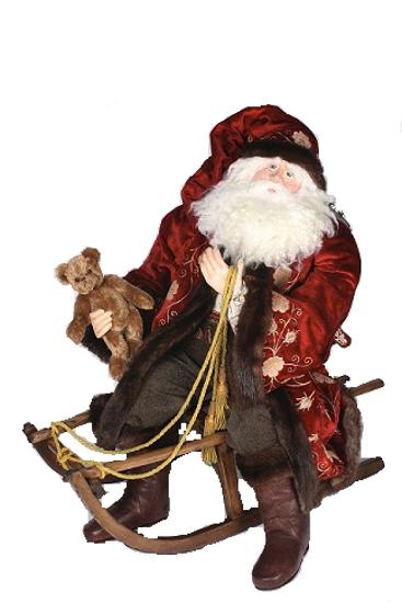 Bethany Lowe Original Father Christmas On Sled