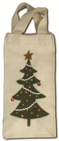 Retro Tree White Wine Bag by Bethany Lowe Designs