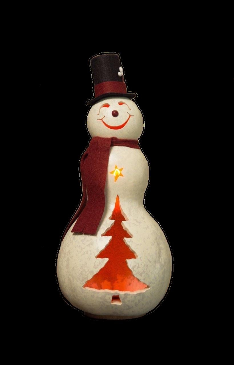 Easton Snowman Medium Lit by Meadowbrooke Gourds