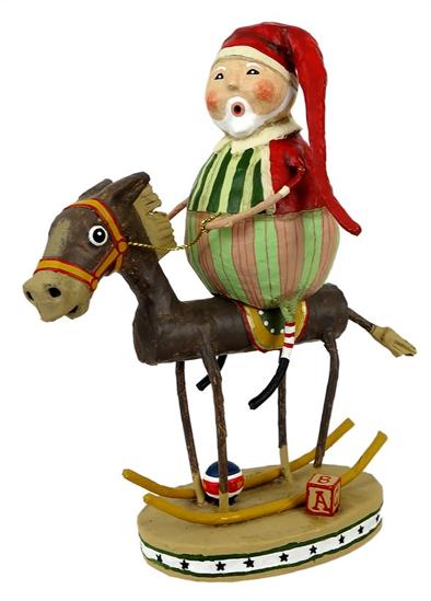 Muletide Santa by Lori Mitchell