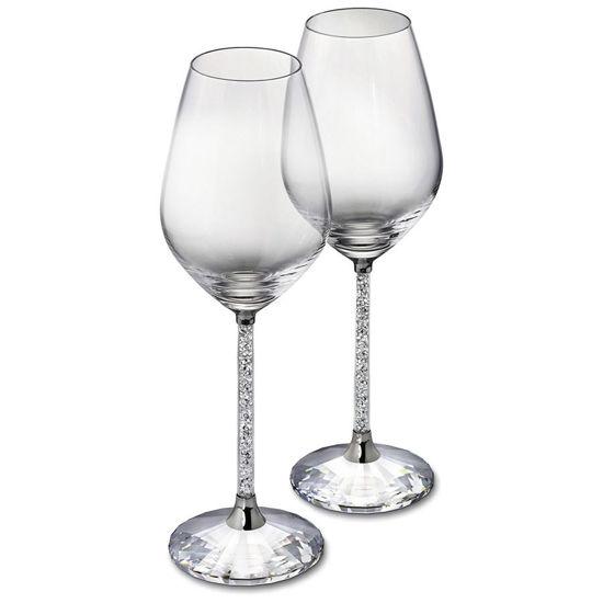 Crystalline Red Wine Glasses by Swarovski
