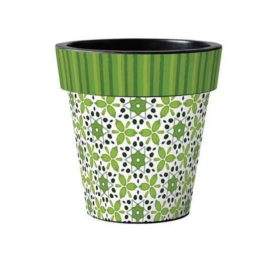 "Green Petal 15"" Art Pot by Studio M"