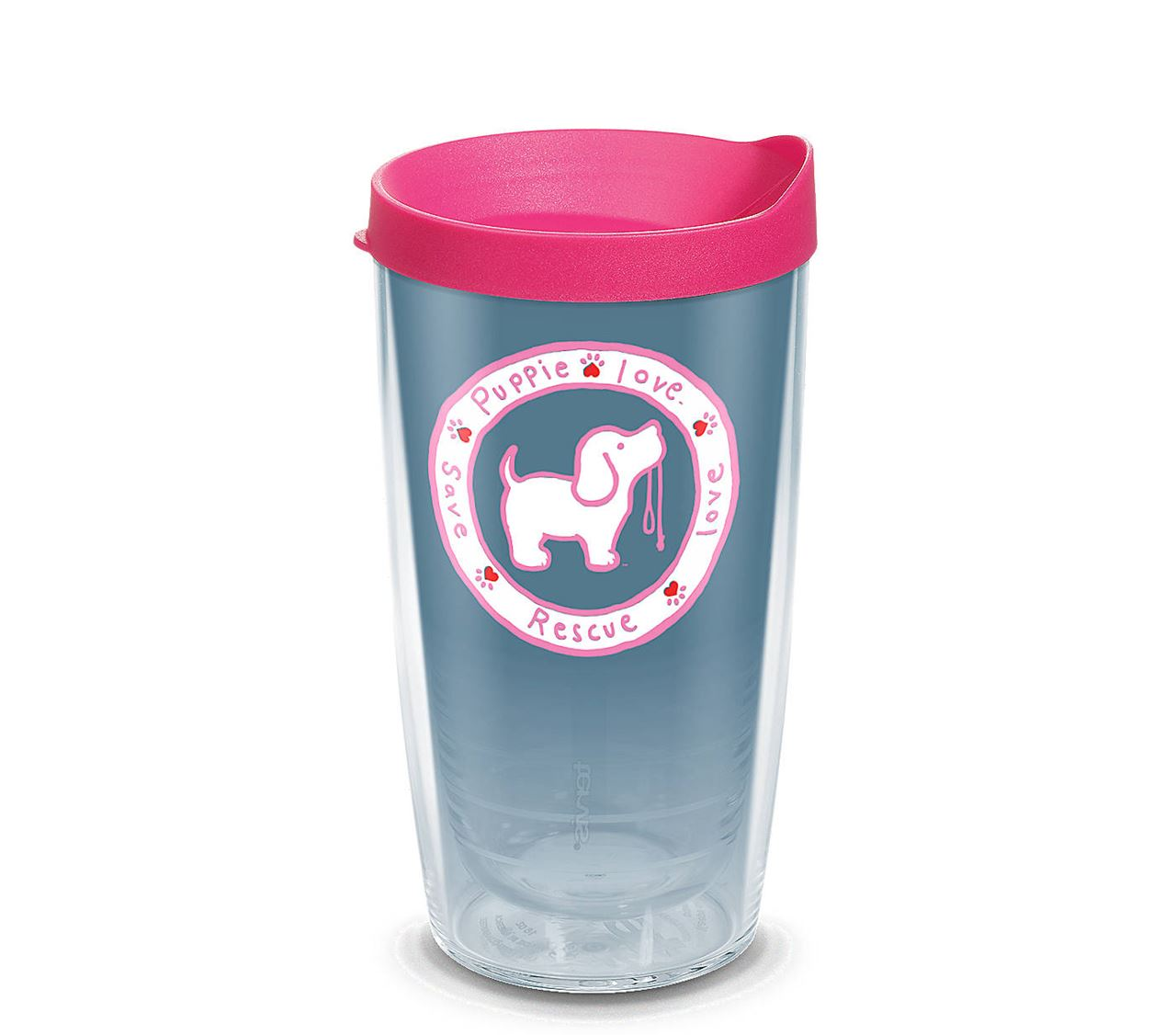 Puppie Love Pink Pup 16oz.Tumbler by Tervis