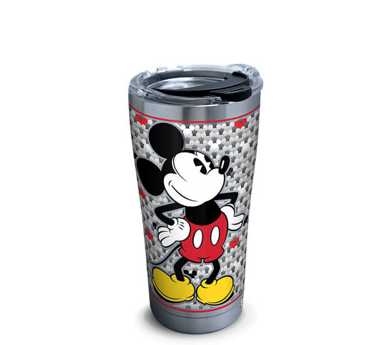Disney - Mickey Mouse Silver 20oz. Stainless Steel Tumbler by Tervis