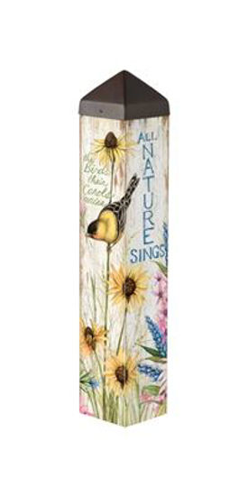 """Sunflower Sings 20"""" Art Pole by Studio M"""