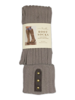 Tall Stud Placket Socks (Stone) by Simply Noelle