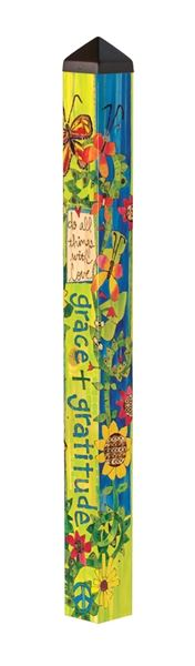 Grace and Gratitude 4' Art Pole by Studio M