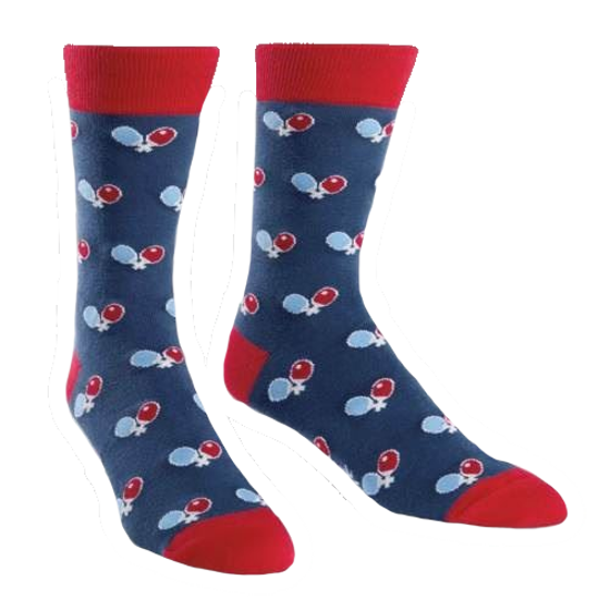 Ping Pong Men's Crew Socks by Sock It To Me