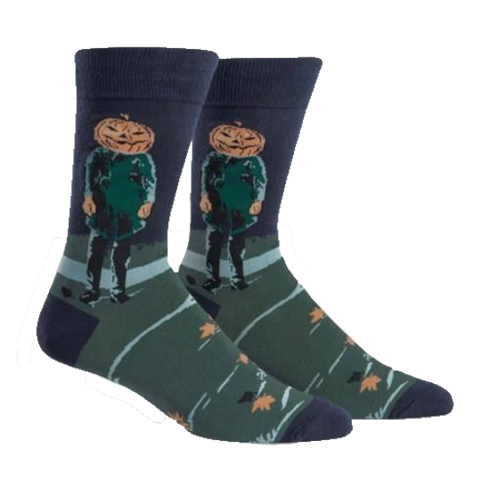 Pumpkin Head Men's Crew Socks by Sock It To Me