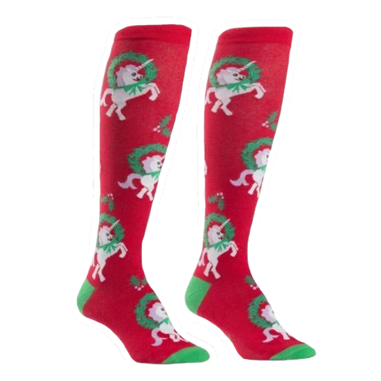 Horn for the Holidays Knee High Socks by Sock It To Me