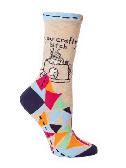 You Crafty...Women's Crew Socks by Blue Q
