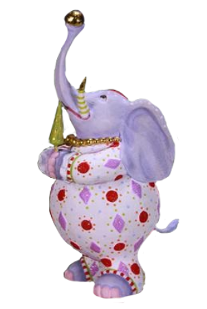 Eleanor Elephant Ornament by Patience Brewster