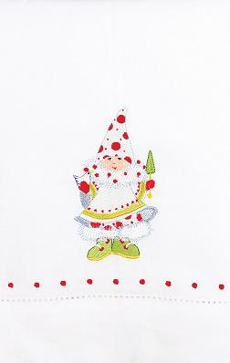 Blitzen's Elf Tea Towel by Patience Brewster