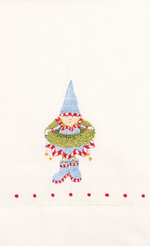 Dasher's Elf Tea Towel by Patience Brewster