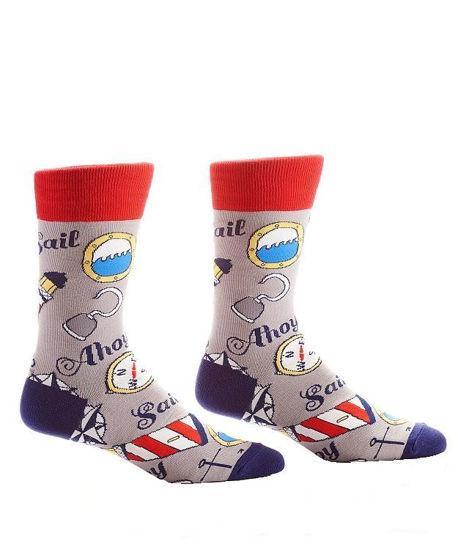 Ahoy Men's Crew Socks by Yo Sox