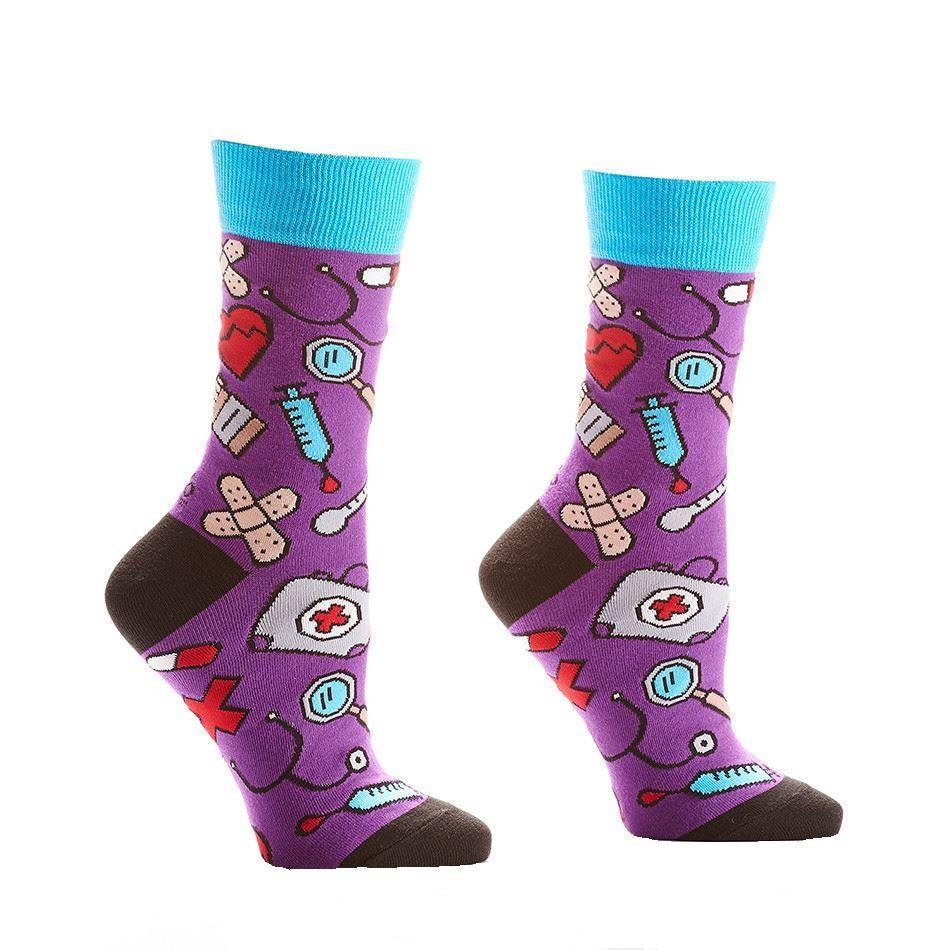 Doctors Orders Women's Crew Socks by Yo Sox