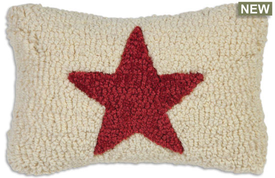 Hot Red Star on Cream by Chandler 4 Corners