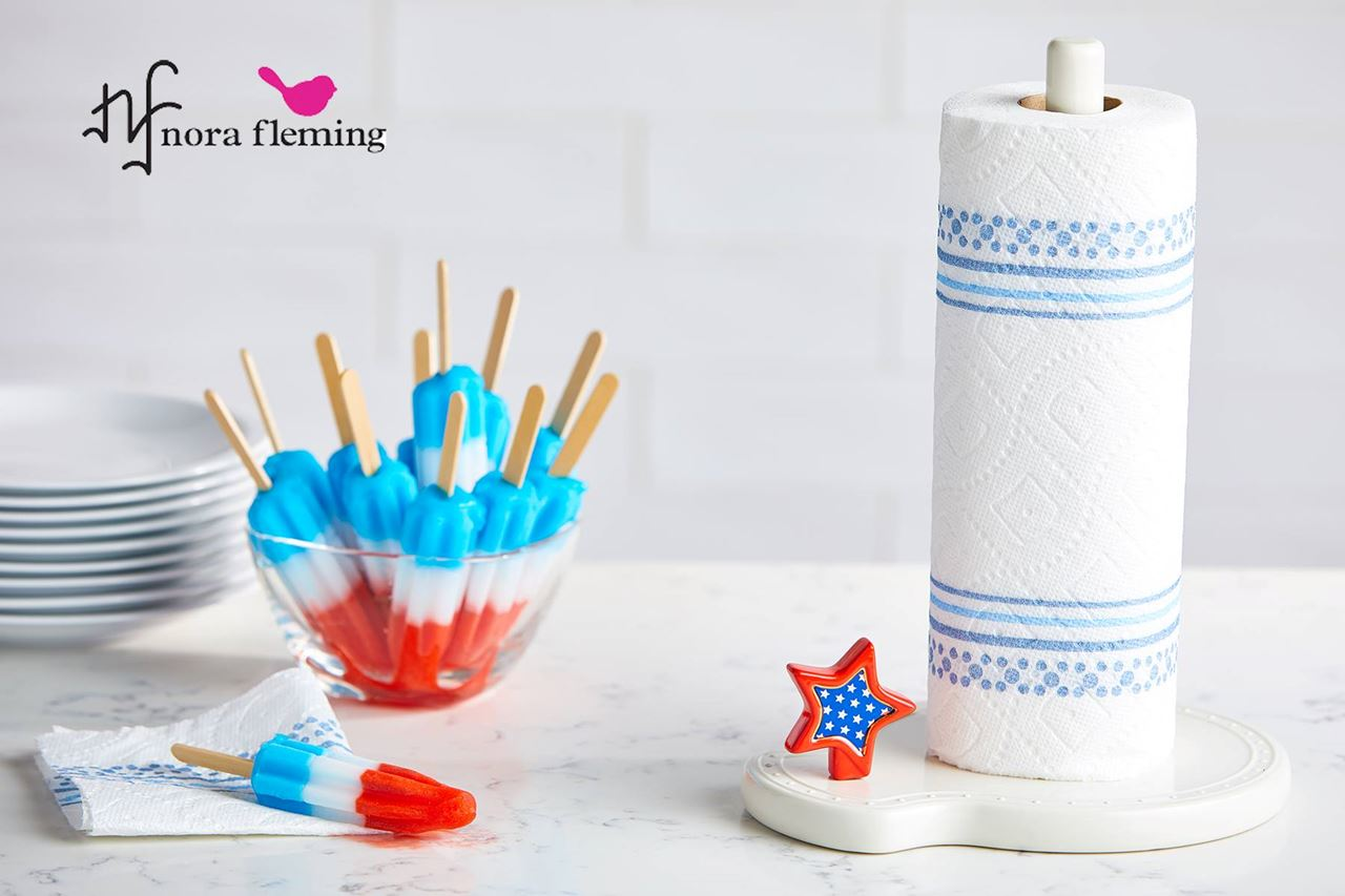 Sparkly Star (Red, White & Blue Star) Mini by Nora Fleming