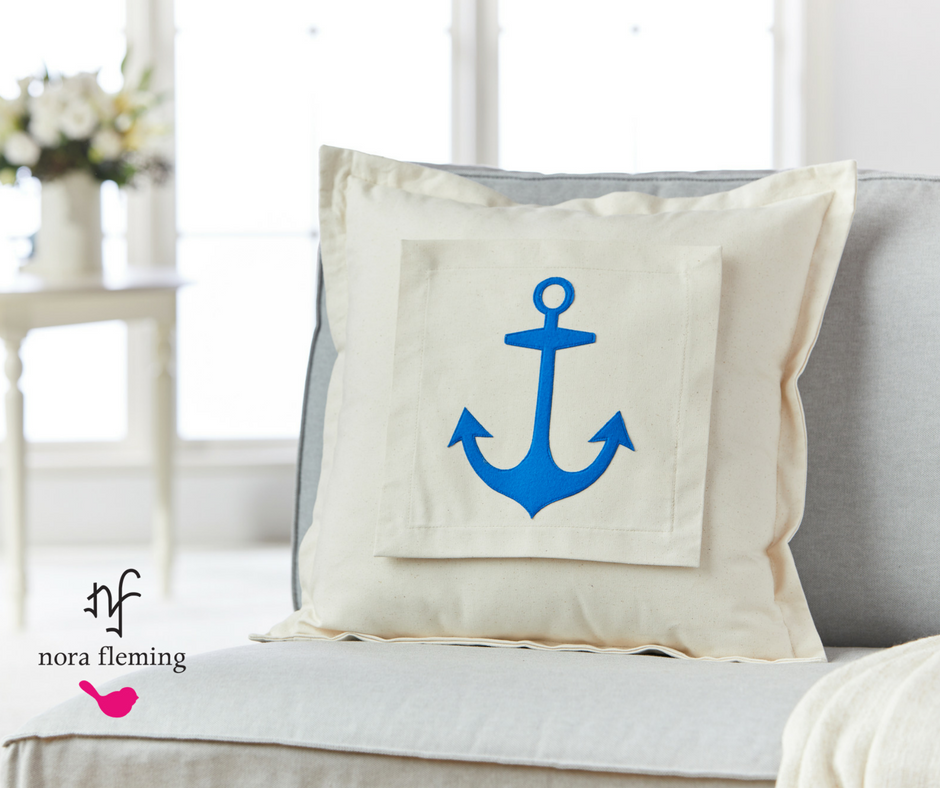 Anchors Aweigh Pillow Panel by Nora Fleming