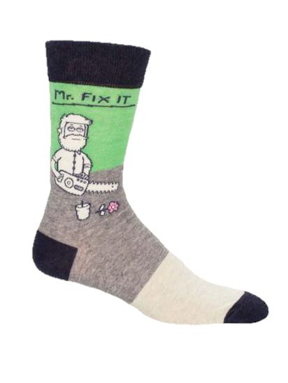 Mr. Fix It Men's Crew Socks by Blue Q