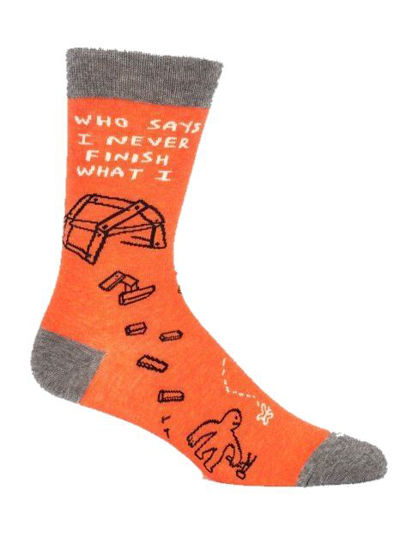 Who Says I Never? Men's Crew Socks by Blue Q