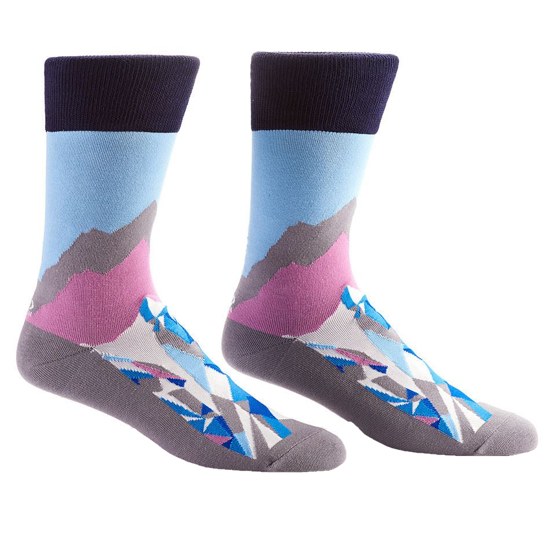 Mountain and Surf Men's Crew Sock by Yo Sox
